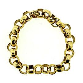 10K Yellow Gold C.1970 Link Chain Bracelet Unisex