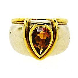 18K Yellow Gold & Citrine Ring