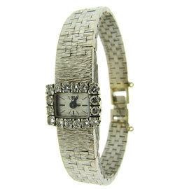 Piaget 18K White Gold & Diamond Bracelet Watch