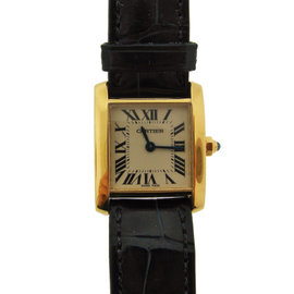 Vintage Cartier 18K Yellow Gold Automatic Watch