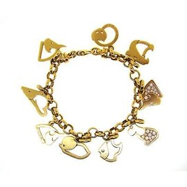 Marina B. 18k Gold & Diamond Animal Charm Bracelet