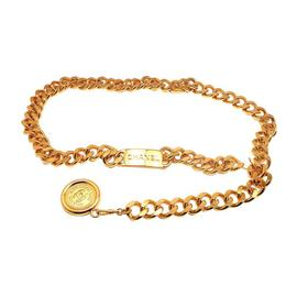 Chanel Signature Gold Tone Necklace