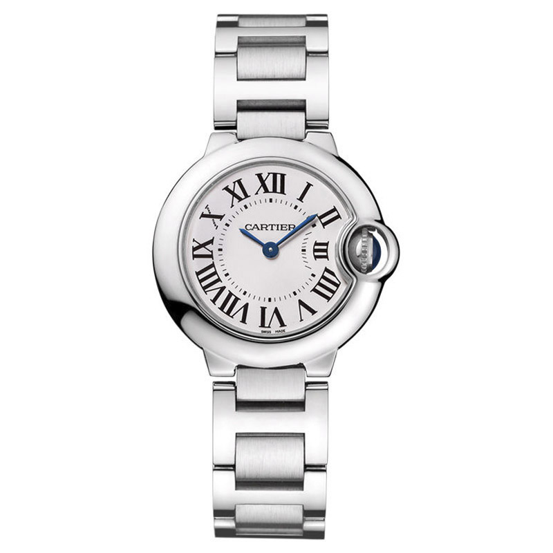 Cartier Ballon Bleu w69010z4 Stainless Steel Quartz 28mm Womens Watch