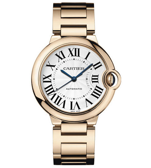 Cartier Ballon Bleu 36mm w69004z2 18K Rose Gold Automatic Watch