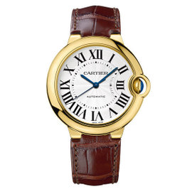 Cartier W6900356 Ballon Bleu 18KT Yellow Gold Leather Strap 36mm Womens Watch