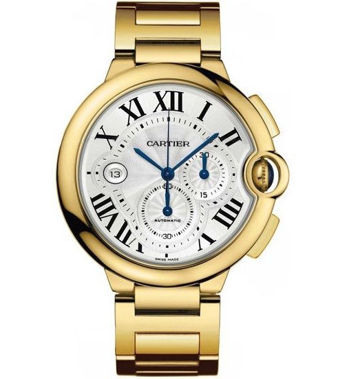 Cartier Ballon Bleu W6920008 Chronograph 18K Yellow Gold Bracelet