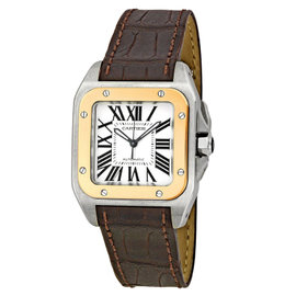 Cartier Santos 100 W20107X7 Stainless Steel & Rose Gold Watch