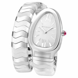 Bvlgari Bulgari Serpenti Spiga SP35WSWCS.1T White Steel & Ceramic Watch