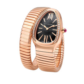 Bulgari Serpenti Tubogas spp35bgdg.1t 18K Rose Gold Watch
