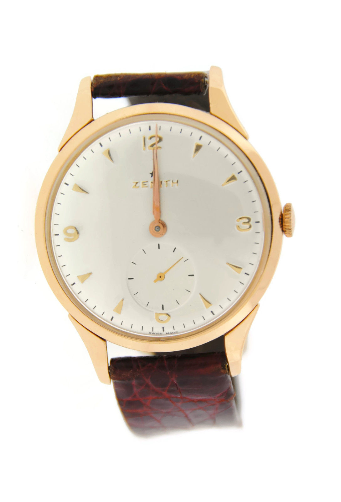 "Image of ""Zenith 18K Rose Gold Mens Watch"""