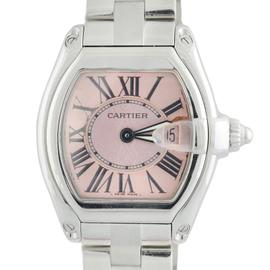 Cartier Roadster 2675 Pink Dial Stainless Steel Date 26mm Watch