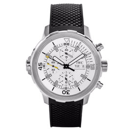 IWC IW376801 Aquatimer Chronograph Silver Dial Black Rubber Watch