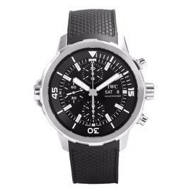 IWC IW376803 Aquatimer Chronograph Black Dial Black Rubber Watch