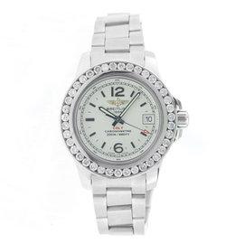 Breitling Colt Lady A77383 Stainless Steel Diamond Bezel Watch