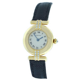 Cartier Colisee 8057911 Diamond 18K Yellow Gold Watch