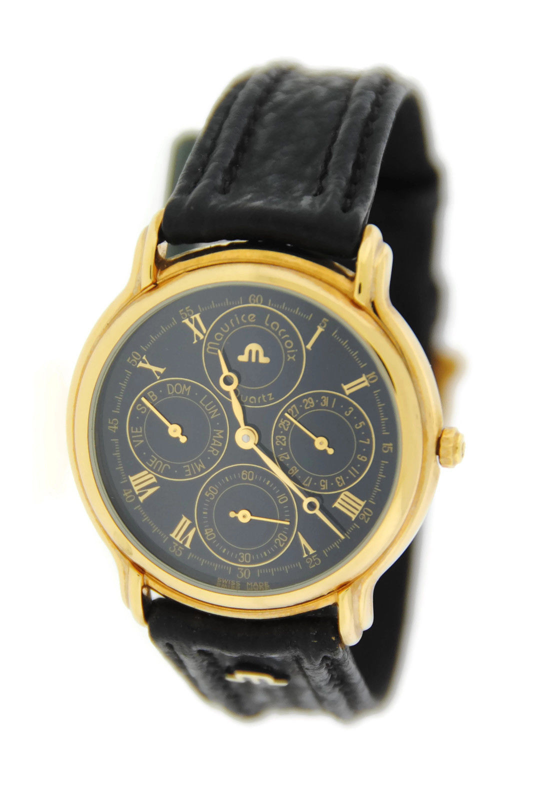 "Image of ""Maurice Lacroix 34996 Chronograph Two Tone Stainless Steel Watch"""