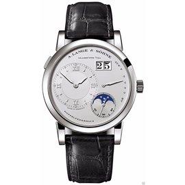 A. Lange & Sohne 109.025 Lange 1 Moonphase Platinum 38.5mm Watch