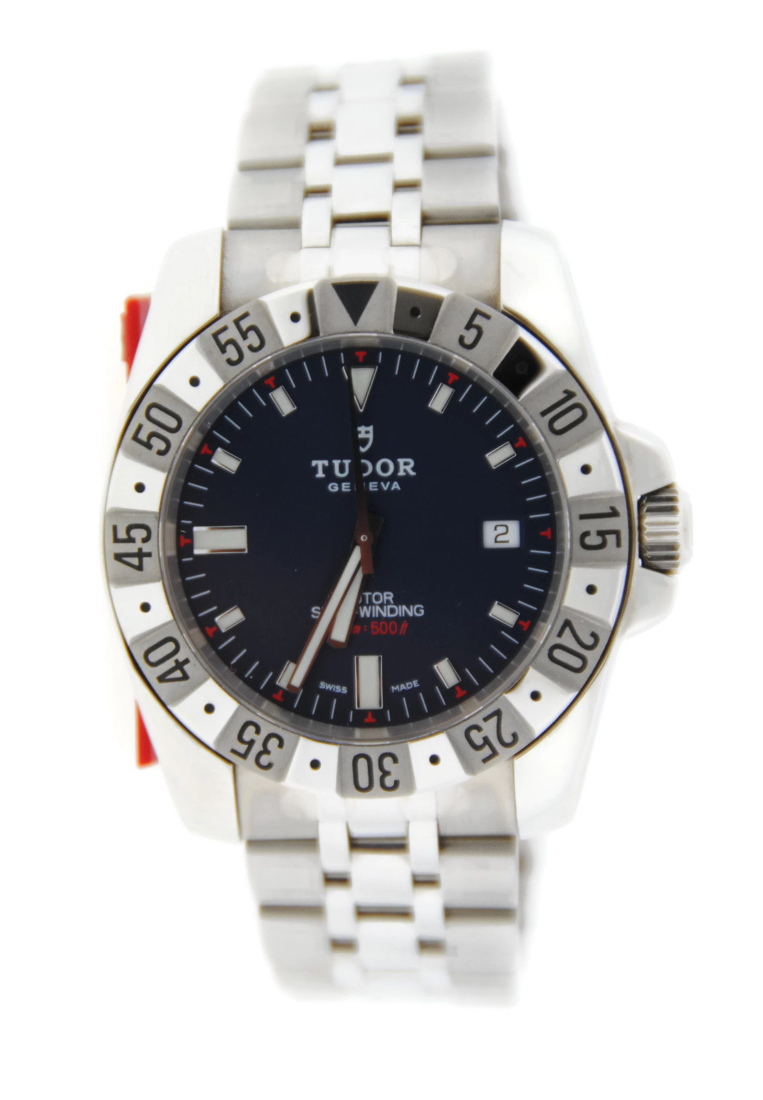 "Image of ""Tudor Rotor 20020 Blue Dial Automatic Stainless Steel Mens Watch"""