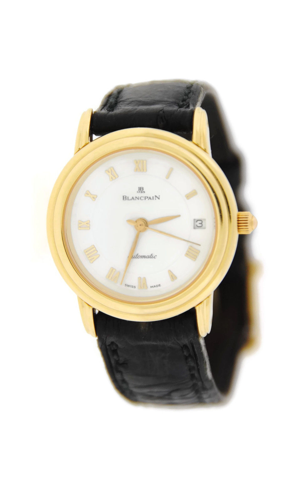 "Image of ""Blancpain Villeret Ultra Slim18K Yellow Gold Womens Watch"""