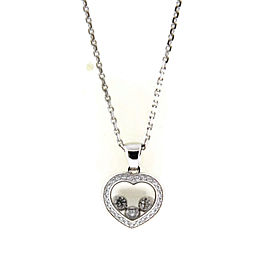 Chopard Happy Floating Diamonds 18K White Gold Heart Pendant Necklace