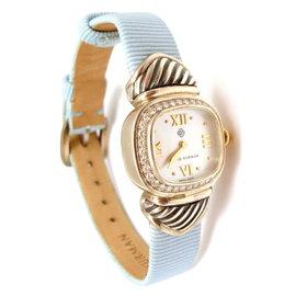 David Yurman Sterling Silver Cable Watch Mop Diamond Watch