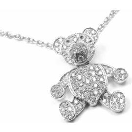 Pomellato Teddy Bear Diamond 18K White Gold Necklace
