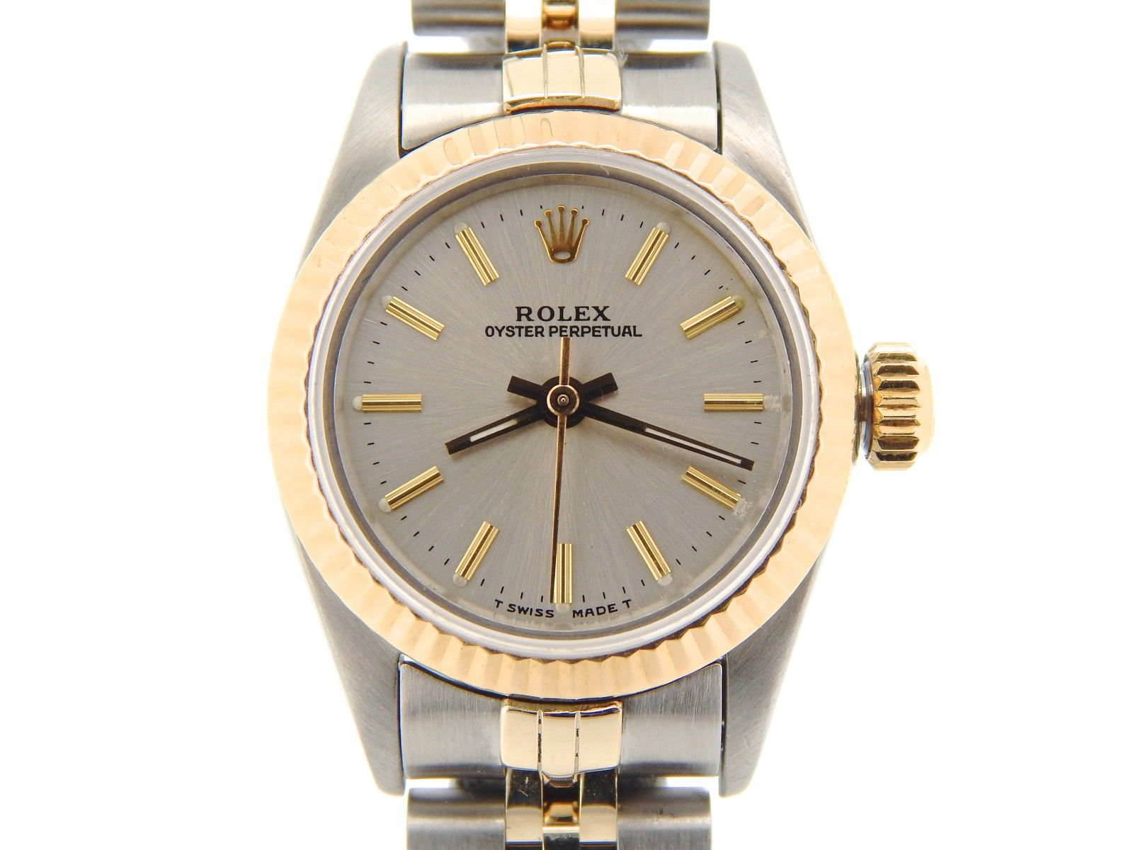 """Image of """"Rolex Oyster Perpetual No-Date 67193 18K Gold & Stainless Steel 24mm"""""""
