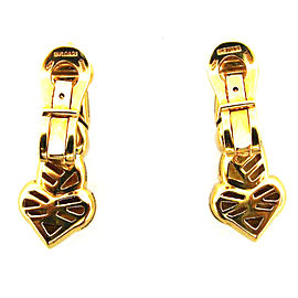 Bulgari 18K Yellow Gold Heart Clip On Earrings