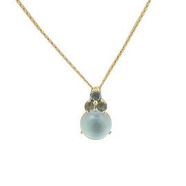 Pomellato Luna 18K Yellow Gold Blue Topaz Pendant Necklace