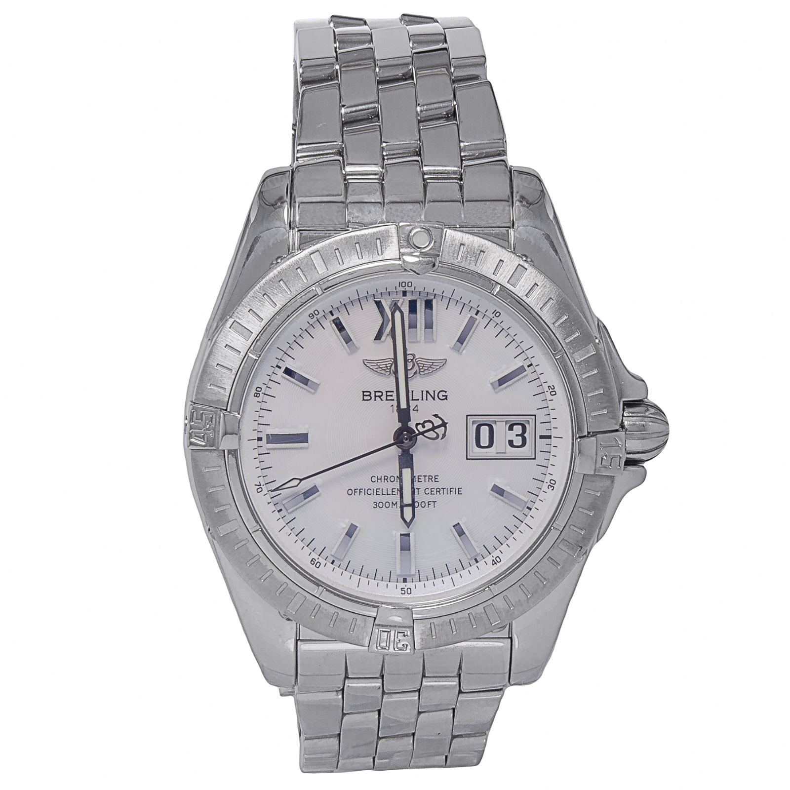 """Image of """"Breitling A49350 Windrider Cockpit Stainless Steel Date Automatic"""""""