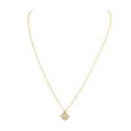 Hearts On Fire 18k Yellow Gold Diamond Sqaure Pendant