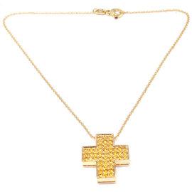 Pasquale Bruni 18k Yellow Gold Sapphire Pendant Necklace