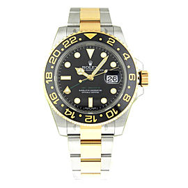 Rolex Master II 116713LN Steel & Gold Black Dial Automatic 40mm Watch