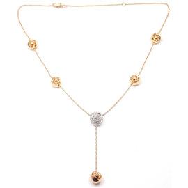 Damiani Bocciolo 18k Rose & White Gold Diamond Necklace