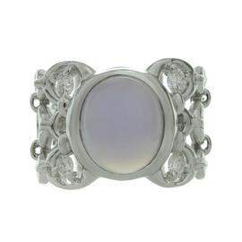 Christian Dior 18k White Gold Chalcedony Diamond Ring