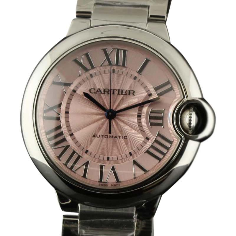 Cartier W6920041 Ca16 Ballon Bleu 36mm Pink Steel Automatic Womens