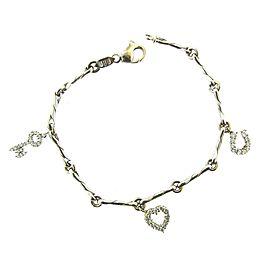 Roberto Coin 18K White Gold, Diamond & Ruby Charm Bracelet