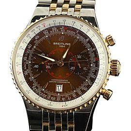 Breitling Montbrillant Legende C23340 Steel Rose Gold Brown Watch