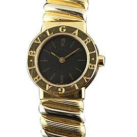 bulgari tubogas bb232t yellow rose white gold bangle watch