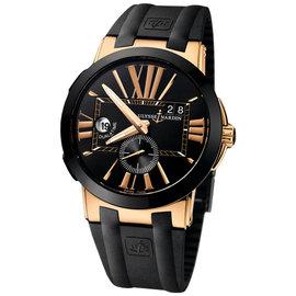 Ulysse Nardin 243-00-3-42 Executive Dual Time Black Dial Rose Gold Watch
