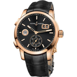 Ulysse Nardin 3346-126/92 Dual Time Manufacture Rose Gold 42mm Watch