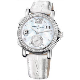 Ulysse Nardin 243-22b/391 GMT Big Date Diamond Stainless Steel 37mm Watch