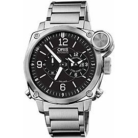 Oris BC4 Flight Timer 690-7615-4164-MB Chronograph Stainless Steel Watch