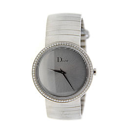 Christian Dior Diamond La D De Stainless Steel Womens Watch