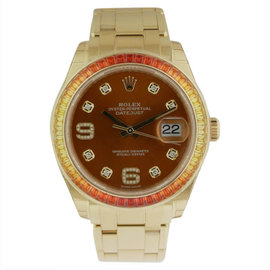 Rolex Oyster Perpetual Datejust Pearlmaster 86348SAJOR Yellow Gold Watch
