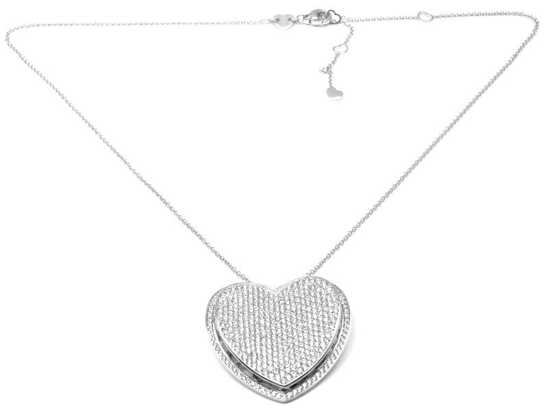 """""Pasquale Bruni 18K White Gold Diamond Heart Necklace"""""" 295399"