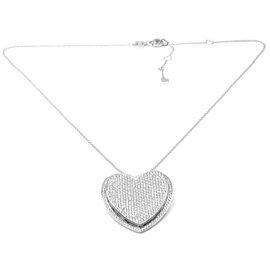 Pasquale Bruni 18K White Gold Diamond Heart Necklace