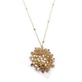 Pasquale Bruni 18K Yellow Gold Flower Diamond Necklace