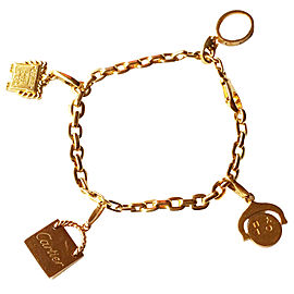 Cartier Yellow Gold 4 Charm Bracelet
