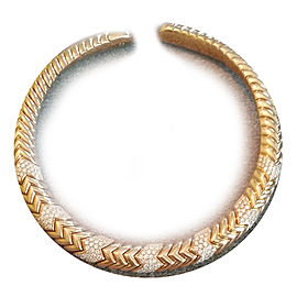 Bvlgari Bulgari Spiga Contemporary 18K Gold and Diamond Choker Necklace